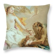 An Allegory With Venus And Time Throw Pillow