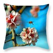An Almond Pollen Day Throw Pillow