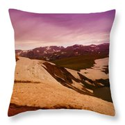 An Alpine Lake Near The Top Of Beartooth Pass  Throw Pillow