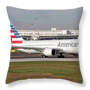 An American Airlines Boeing 767 Throw Pillow