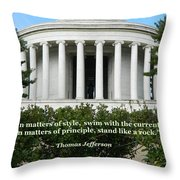 An American Founding Father Throw Pillow