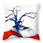 An American Tree Throw Pillow