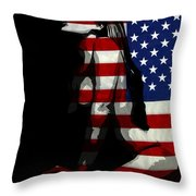 An American Woman Throw Pillow