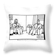 An Analyst Addresses His Patient Throw Pillow
