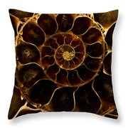 An Ancient Ammonite Pattern  Throw Pillow