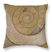 An Ancient Ammonite Pattern Vi Throw Pillow