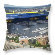 An Angel Over Baltimore Throw Pillow