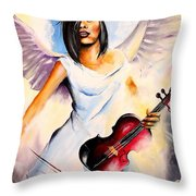 An Angel Performs Throw Pillow