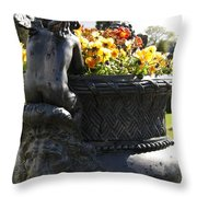 An Angels Backside Throw Pillow