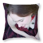 An Angel's Rest Throw Pillow