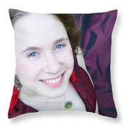 An Angel's Smile Throw Pillow