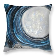 An Apparition Of The Moon  Throw Pillow