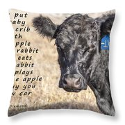 An Apple Or A Rabbit Throw Pillow