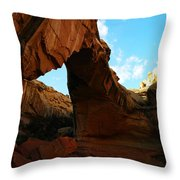 An Arch At Capital Reef Throw Pillow