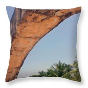 An Arch In Cozumela Throw Pillow