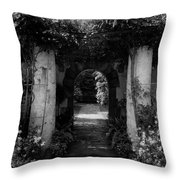 An Archway In The Garden Of Mrs. Carl Tucker Throw Pillow