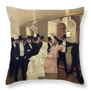 An Argument In The Corridors Of The Opera Throw Pillow