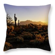 An Arizona Morning  Throw Pillow
