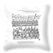An Army Lines Up For Battle Throw Pillow