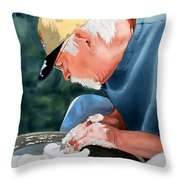 The Potter Begins Throw Pillow