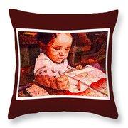 An Artist Is Born Throw Pillow