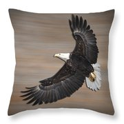 An Artistic Presentation Of The American Bald Eagle Throw Pillow