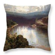An Australian Fjord Throw Pillow