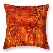 An Autumn Abstraction Throw Pillow