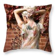 An Autumn Bottom Throw Pillow