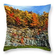 An Autumn Day Painted Throw Pillow