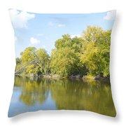 An Autumn Day Panoramic Throw Pillow