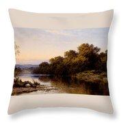 An Autumn Evening North Wales Throw Pillow