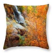 An Autumn Falls Throw Pillow