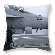 An Aviation Boatswains Mate Prepares An Throw Pillow