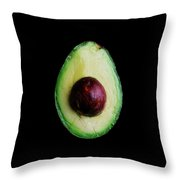 An Avocado Throw Pillow