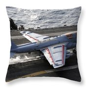 An Ea-6b Prowler Takes Throw Pillow