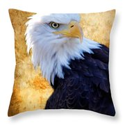 An Eagles Standpoint Throw Pillow