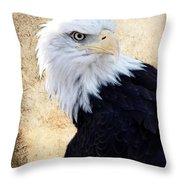 An Eagles Standpoint II Throw Pillow
