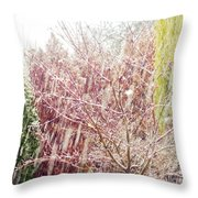An Early Snowfall Throw Pillow