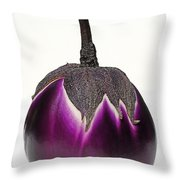 An Eggplant Jewel Throw Pillow