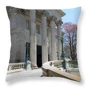 An Elegant Newport Mansion Throw Pillow