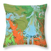 An Elf In Wonderland Throw Pillow