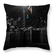 An Empire In The Distance Throw Pillow