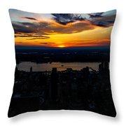 An Empire Sunset Throw Pillow
