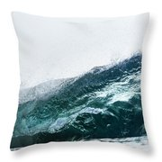 An Empty Wave Breaks Over A Shallow Reef Throw Pillow