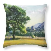 An Englishman's Castle Throw Pillow