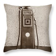 An Esso Petrol Pump From The First Half Throw Pillow