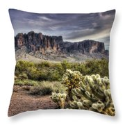 An Evening At The Superstitions Throw Pillow