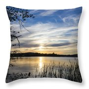 An Evening In Lakes Country Throw Pillow