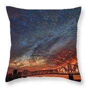 An Evening In Louisville Throw Pillow